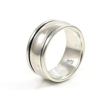 James Avery Sterling Silver Regal Band Ring Sz 6.5